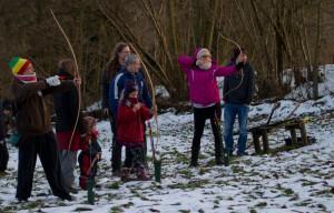 Bogenschießen im Waldmärchencamp