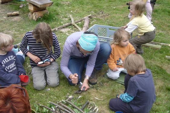 Familien im Camp