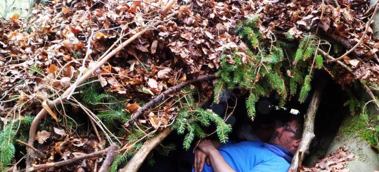 Beinahe vom Reh überrannt – Wildnisbasiskurs im Mai